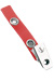 Red Vinyl Strap Clip W/ 2-Hole Nps Clip