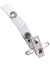 Clear Vinyl Strap Clip W/ 2-Hole Nps Clip & Safety Pin