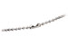 Nickel-Plated Steel Beaded Neck Chain, Length 15
