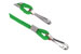 Green Round Woven Nylon Cord W/2 Nickel Plated Steel Hooks