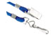 Royal Blue Woven Nylon Lanyard W/ 1Nickel Plated Steel Swivel Hook &