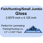 Kleer-Lam Laminate Pouch Fishing/Hunting License Size