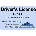 Kleer-Lam Laminate Pouch Driver's License Size