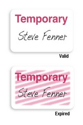 Tempbadge Manually Issued Badges