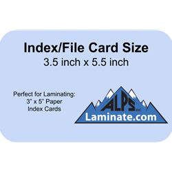 Index Card Laminate Pouch | Card Laminating Pouches