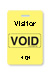 "Reusable Yellow Voidbadge Seq. # 101-200 ""Visitor"". Pkg Of 100"