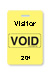 "Reusable Yellow Voidbadge Seq. # 201-300 ""Visitor"". Pkg Of 100"