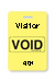 "Reusable Yellow Voidbadge Seq. # 401-500 ""Visitor"". Pkg Of 100"
