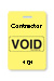 "Reusable Yellow Voidbadge Seq. # 101-200 ""Contractor"". Pkg Of 100"