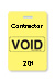 "Reusable Yellow Voidbadge Seq. # 201-300 ""Contractor"". Pkg Of 100"