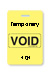 "Reusable Yellow Voidbadge Seq. # 101-200 ""Temporary"". Pkg Of 100"