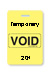 "Reusable Yellow Voidbadge Seq. # 201-300 ""Temporary"". Pkg Of 100"