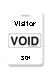 "Reusable White Voidbadge Seq. # 301-400 ""Visitor"". Pkg Of 100"