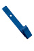 Royal Blue Delrin Plastic Strap Clip W/ Knurled Thumb-Grip