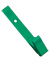 Green Delrin Plastic Strap Clip W/ Knurled Thumb-Grip