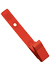 Red Delrin Plastic Strap Clip W/ Knurled Thumb-Grip