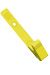 Yellow Delrin Plastic Strap Clip W/ Knurled Thumb-Grip