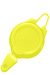 Yellow Plastic Ski / Sports Badge Reel W/ Flex Hook & Snap Closure.