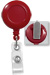Red Badge Reel W/ Clear Vinyl Strap & Spring Clip.