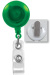 Translucent Green Badge Reel W/ Clear Vinyl Strap & Spring Clip.