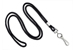 "Black Round 1/8"" (3 Mm) Standard Lanyard W/ Nickel Plated Steel Swivel Hook"