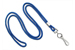 "Royal Blue Round 1/8"" (3 Mm) Standard Lanyard W/ Nickel Plated Steel Swivel Hook"