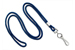 "Navy Blue Round 1/8"" (3 Mm) Standard Lanyard W/ Nickel Plated Steel Swivel Hook"