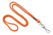 "Orange Round 1/8"" (3 Mm) Standard Lanyard W/ Nickel Plated Steel Swivel Hook"