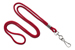 "Red Round 1/8"" (3 Mm) Standard Lanyard W/ Nickel Plated Steel Swivel Hook"