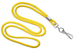 "Yellow Round 1/8"" (3 Mm) Standard Lanyard W/ Nickel Plated Steel Swivel Hook"