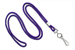 "Purple Round 1/8"" (3 Mm) Standard Lanyard W/ Nickel Plated Steel Swivel Hook"