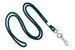 "Teal Round 1/8"" (3 Mm) Standard Lanyard W/ Nickel Plated Steel Swivel Hook"