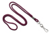 "Maroon Round 1/8"" (3 Mm) Standard Lanyard W/ Nickel Plated Steel Swivel Hook"