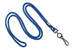 "Royal Blue Round 1/8"" (3 Mm) Standard Lanyard W/ Black-Oxidized Swivel Hook"
