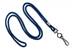 "Navy Blue Round 1/8"" (3 Mm) Standard Lanyard W/ Black-Oxidized Swivel Hook"