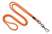 "Orange Round 1/8"" (3 Mm) Standard Lanyard W/ Black-Oxidized Swivel Hook"