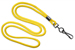 "Yellow Round 1/8"" (3 Mm) Standard Lanyard W/ Black-Oxidized Swivel Hook"