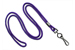 "Purple Round 1/8"" (3 Mm) Standard Lanyard W/ Black-Oxidized Swivel Hook"