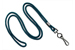 "Teal Round 1/8"" (3 Mm) Standard Lanyard W/ Black-Oxidized Swivel Hook"