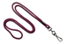"Maroon Round 1/8"" (3 Mm) Standard Lanyard W/ Black-Oxidized Swivel Hook"