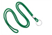 "Green Round 1/8"" (3 Mm) Lanyard W/ Nickel Plated Steel Split Ring"