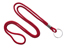 "Red Round 1/8"" (3 Mm) Lanyard W/ Nickel Plated Steel Split Ring"