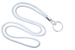 "White Round 1/8"" (3 Mm) Lanyard W/ Nickel Plated Steel Split Ring"