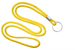 "Yellow Round 1/8"" (3 Mm) Lanyard W/ Nickel Plated Steel Split Ring"