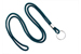 "Teal Round 1/8"" (3 Mm) Lanyard W/ Nickel Plated Steel Split Ring"