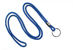 "Royal Blue Round 1/8"" (3 Mm) Lanyard W/ Black-Oxidized Split Ring"