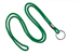 "Green Round 1/8"" (3 Mm)Lanyard W/ Black-Oxidized Split Ring"