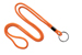 "Orange Round 1/8"" (3 Mm) Lanyard W/ Black-Oxidized Split Ring"