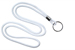 "White Round 1/8"" (3 Mm) Lanyard W/ Black-Oxidized Split Ring"