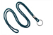 "Teal Round 1/8"" (3 Mm) Lanyard W/ Black-Oxidized Split Ring"